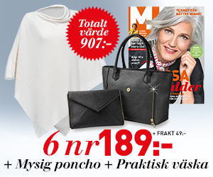 M-magasin - 6 nr + härlig poncho & praktisk väska för endast 189 kr Återbäring