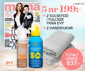 mama - 5 nr + 2 st solskydd från EVY & 2-pack handdukar för endast 199 kr Rabatt / Återbäring