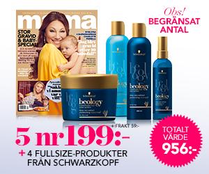 5 nr mama + 4 fullsize-produkter från Schwarzkopf för endast 199 kr Återbäring
