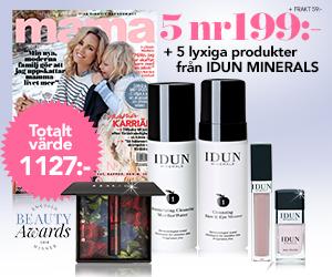 mama - 5 nr + lyxigt kit från IDUN för endast 199 kr Återbäring