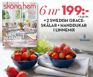 Sköna Hem - 6 nr + 2 Swedish grace-skålar + 2 linnehanddukar för endast 199 kr Återbäring